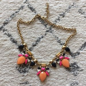 J crew peach and pink necklace